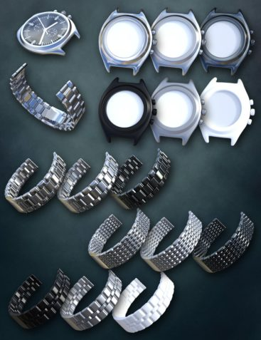 Round Wristwatch for Genesis 2 Male(s) and Genesis 3 Male(s)