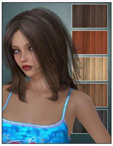 Selina Hair for Genesis 2 and 3 Female(s) and Victoria 4