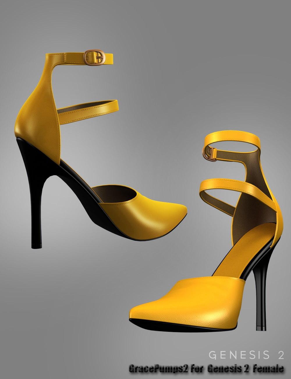 Grace Pumps 2 For Genesis 2 Female(s) - clothing, daz-poser-carrara