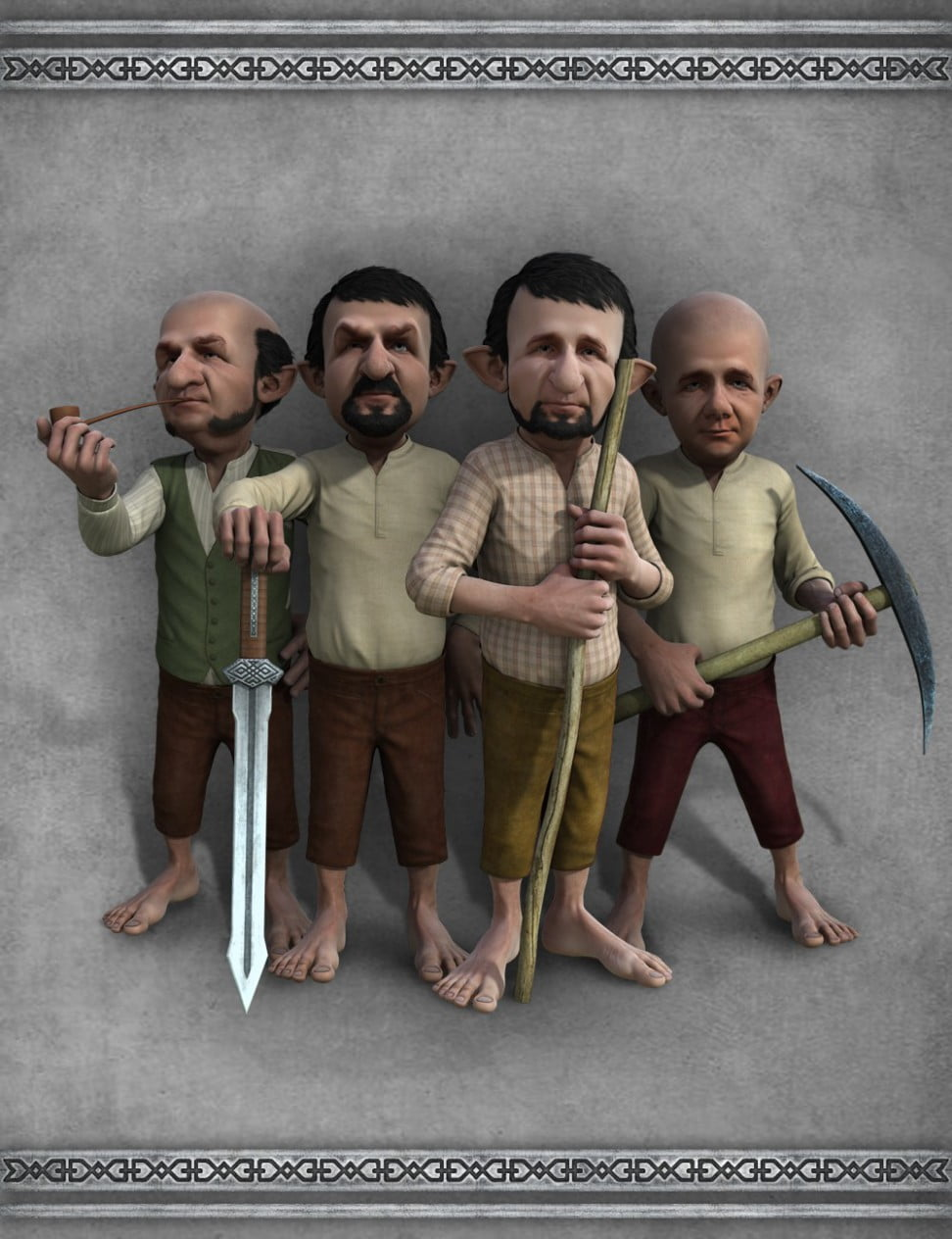 Dwarf Poses for Genesis 2 Male(s)