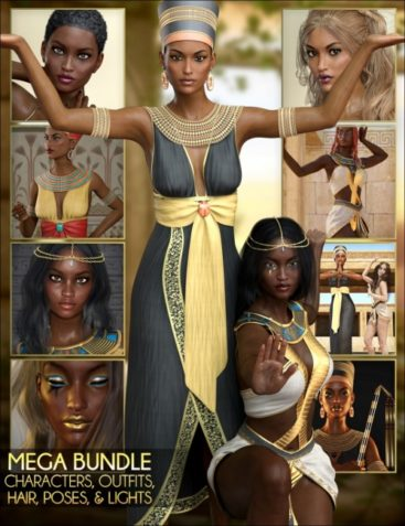 Egyptian MEGA Bundle – Characters, Outfits, Hair, Poses and Lights