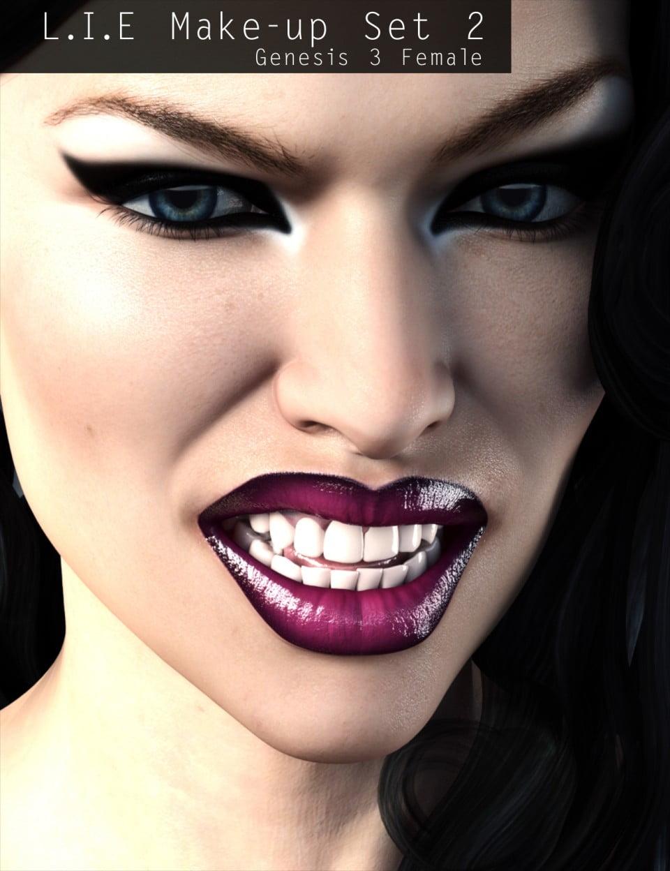 L.I.E Make-up Set 2 for Genesis 3 Female(s)
