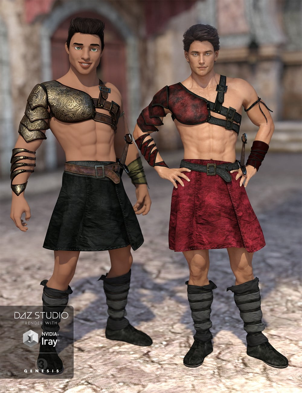 00-daz3d_leather-warrior-outfit-textures