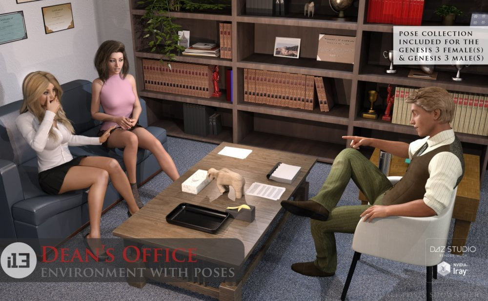 01-i13-deans-office-with-poses-daz3d