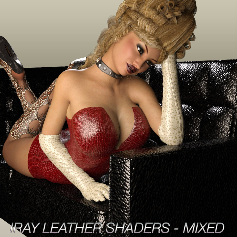 IRAY LEATHER SHADERS - MIXED