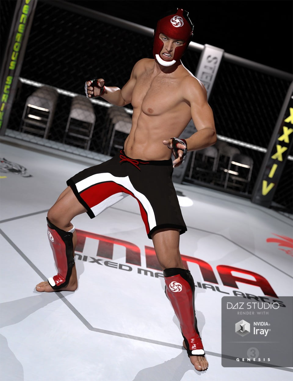 MMA Fighter for Genesis 3 Male(s)