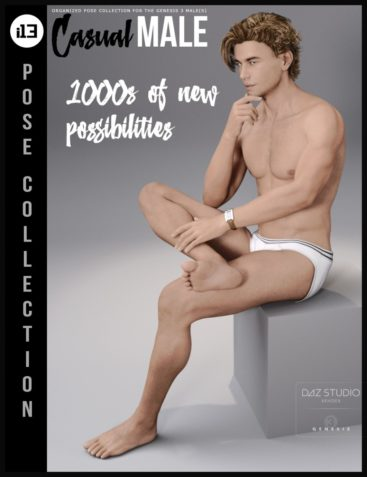 i13 Casual Male Pose Collection for the Genesis 3 Male(s)