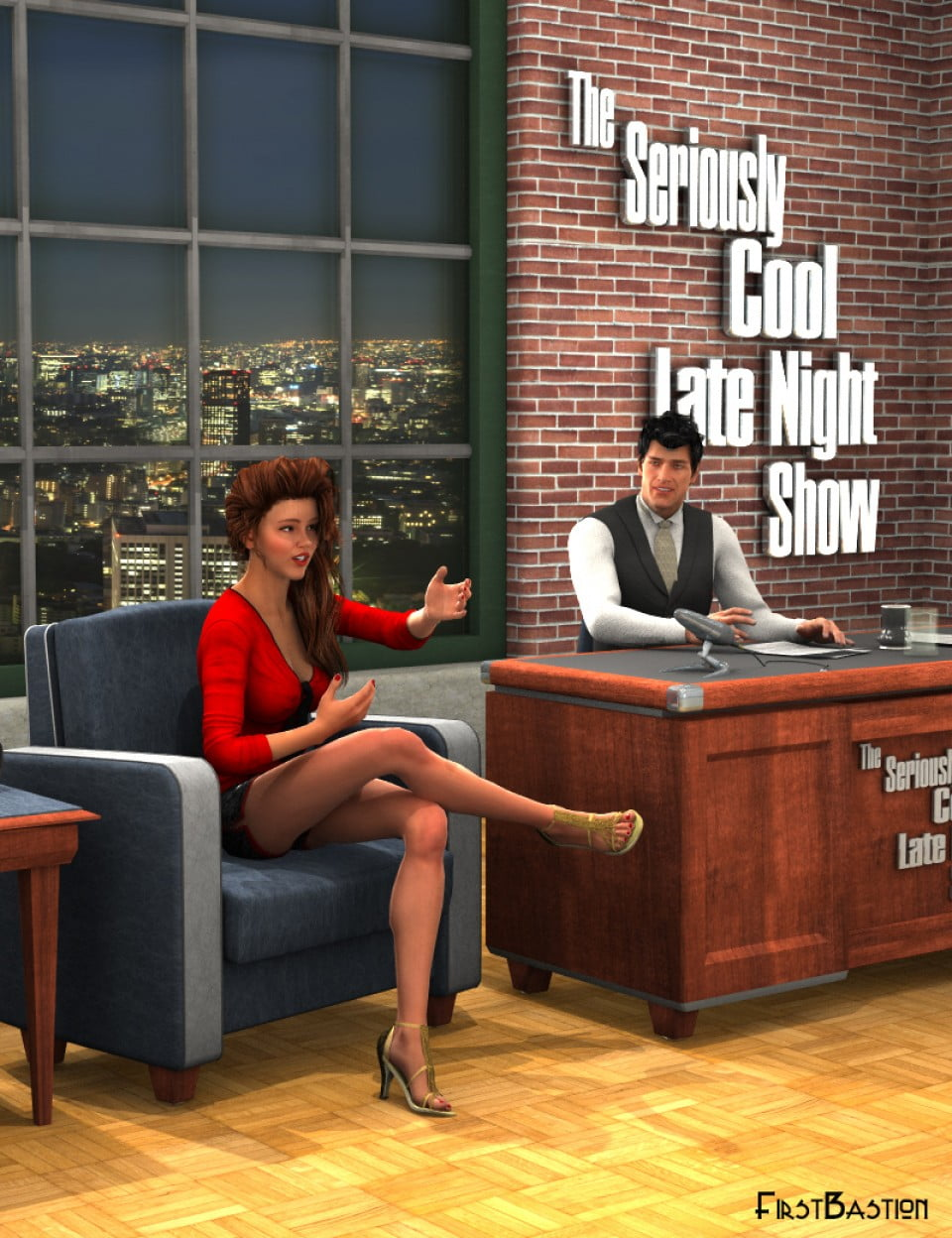 Talk Show – Late Night Set and Poses