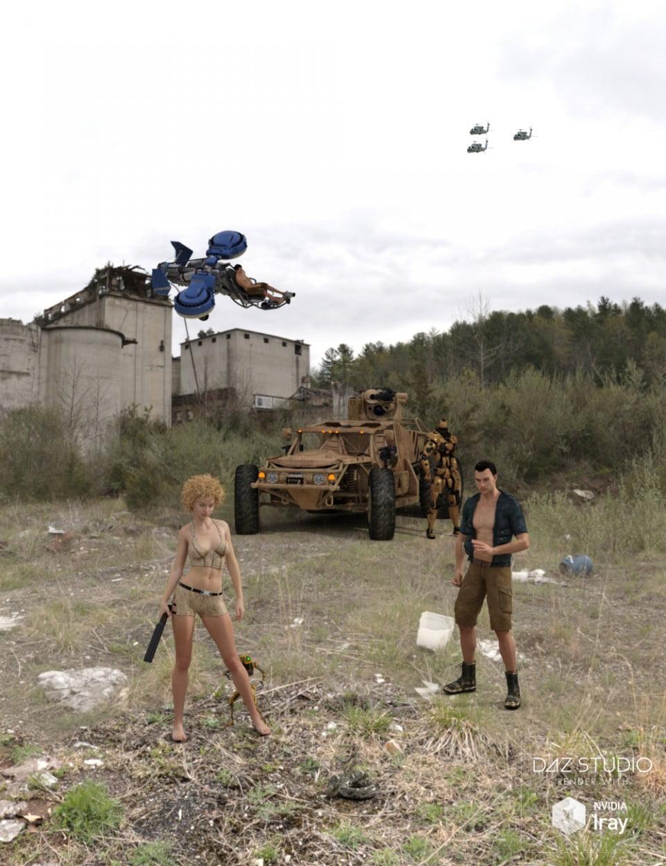 Iray HDRI: Apocalyptic Plant Outdoors Set 1