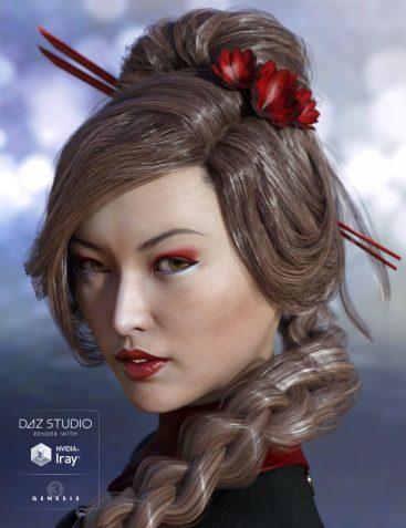 Maia Hair for Genesis 3 Female(s)