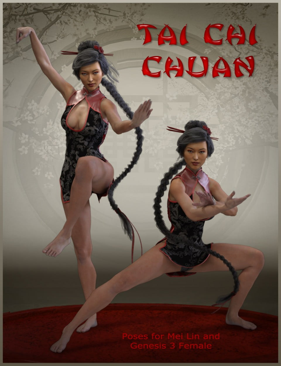 Tai Chi Chuan Poses for Mei Lin 7 and Genesis 3 Female
