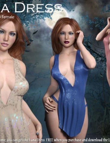 Luna Dress for Genesis 3 Female