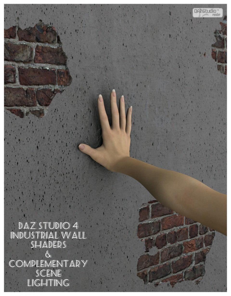 Industrial Walls DAZ Studio Shaders