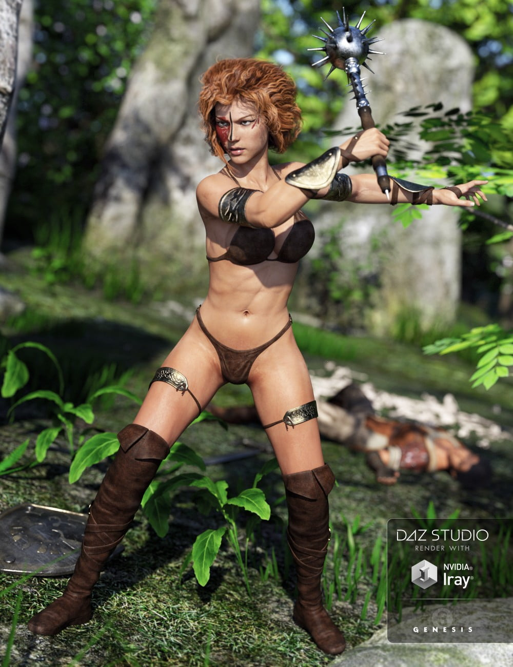 Fantasy Barbarian Outfit for Genesis 3 Female(s)