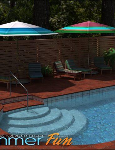 Summer Fun for Swimming Pool Deck