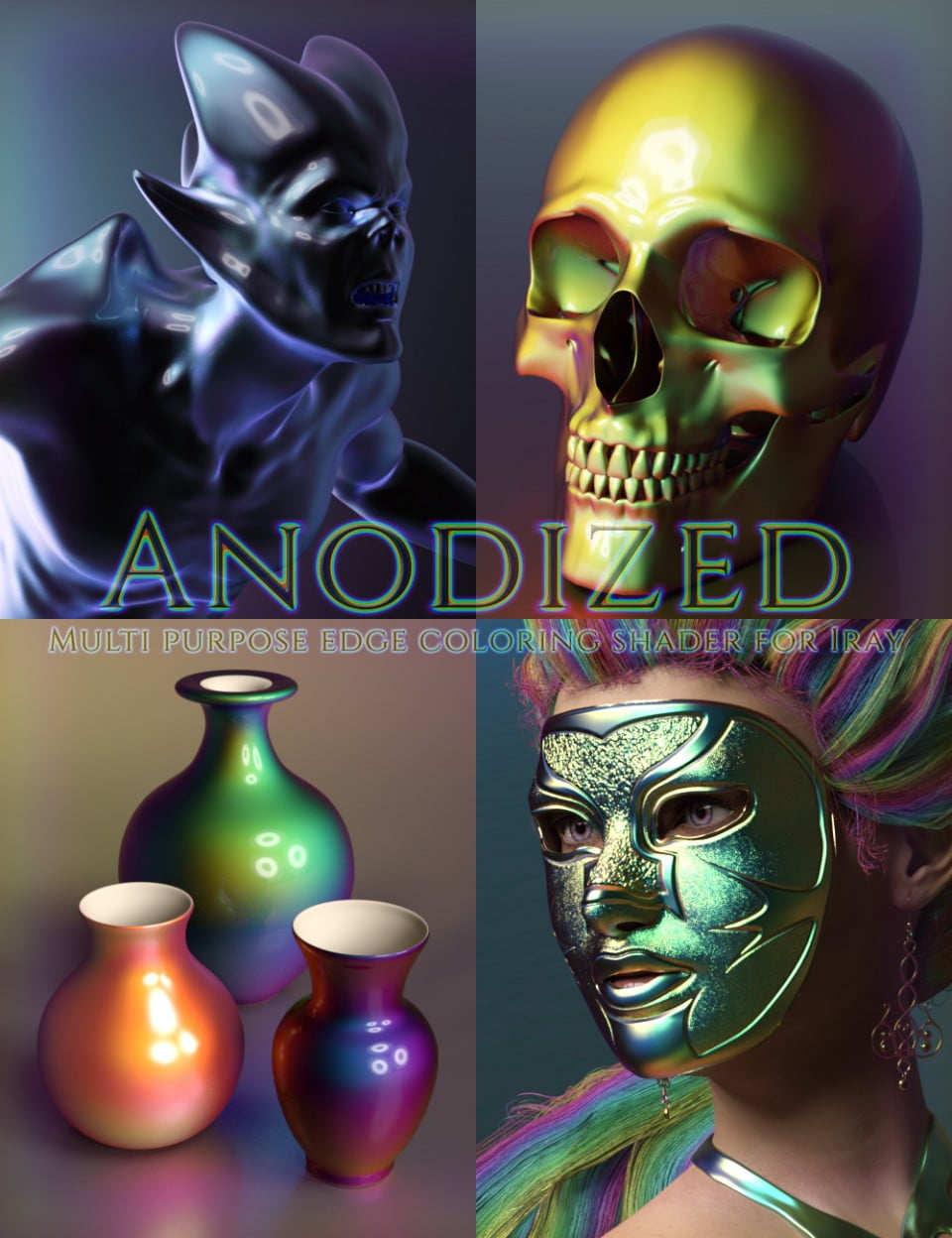 Anodized – Custom Shader and Preset Suite for Iray