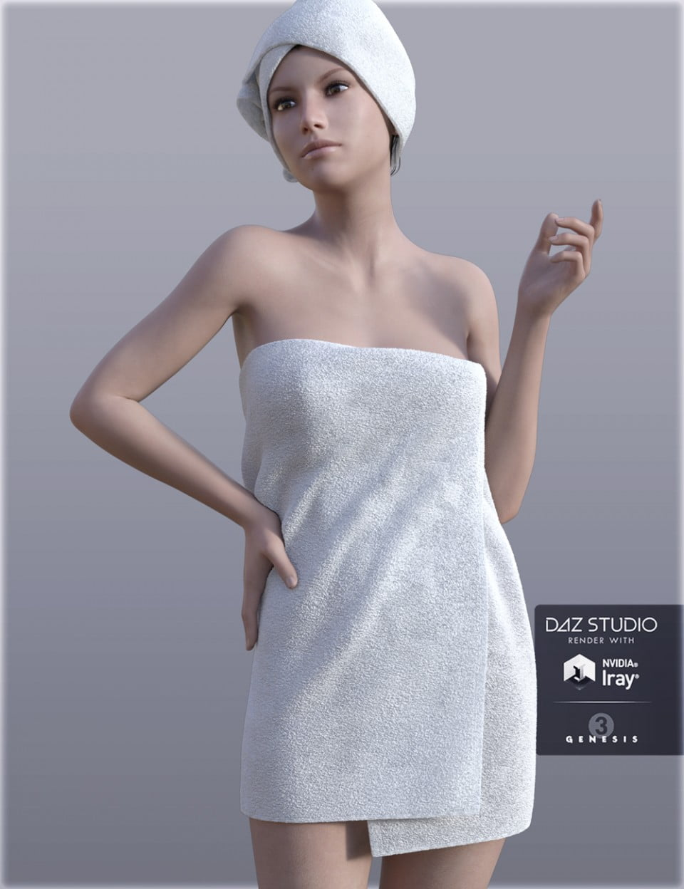 H&C Shower Towel for Genesis 3 Female(s)