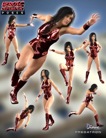 Heroic Defender Poses for Genesis 3 Female(s)