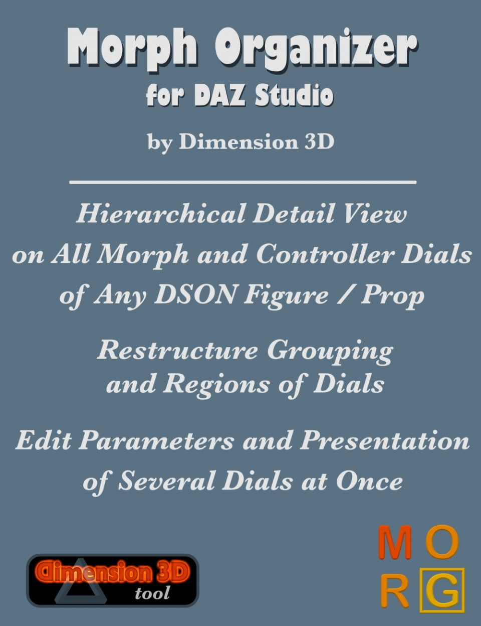Morph Organizer for DAZ Studio