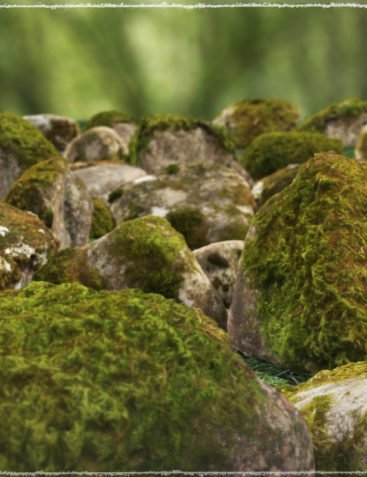 Photo Props: Mossy Rocks