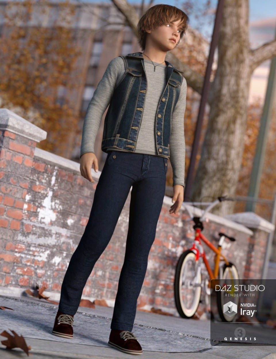 Everyday Casual Outfit for Genesis 3 Male(s)