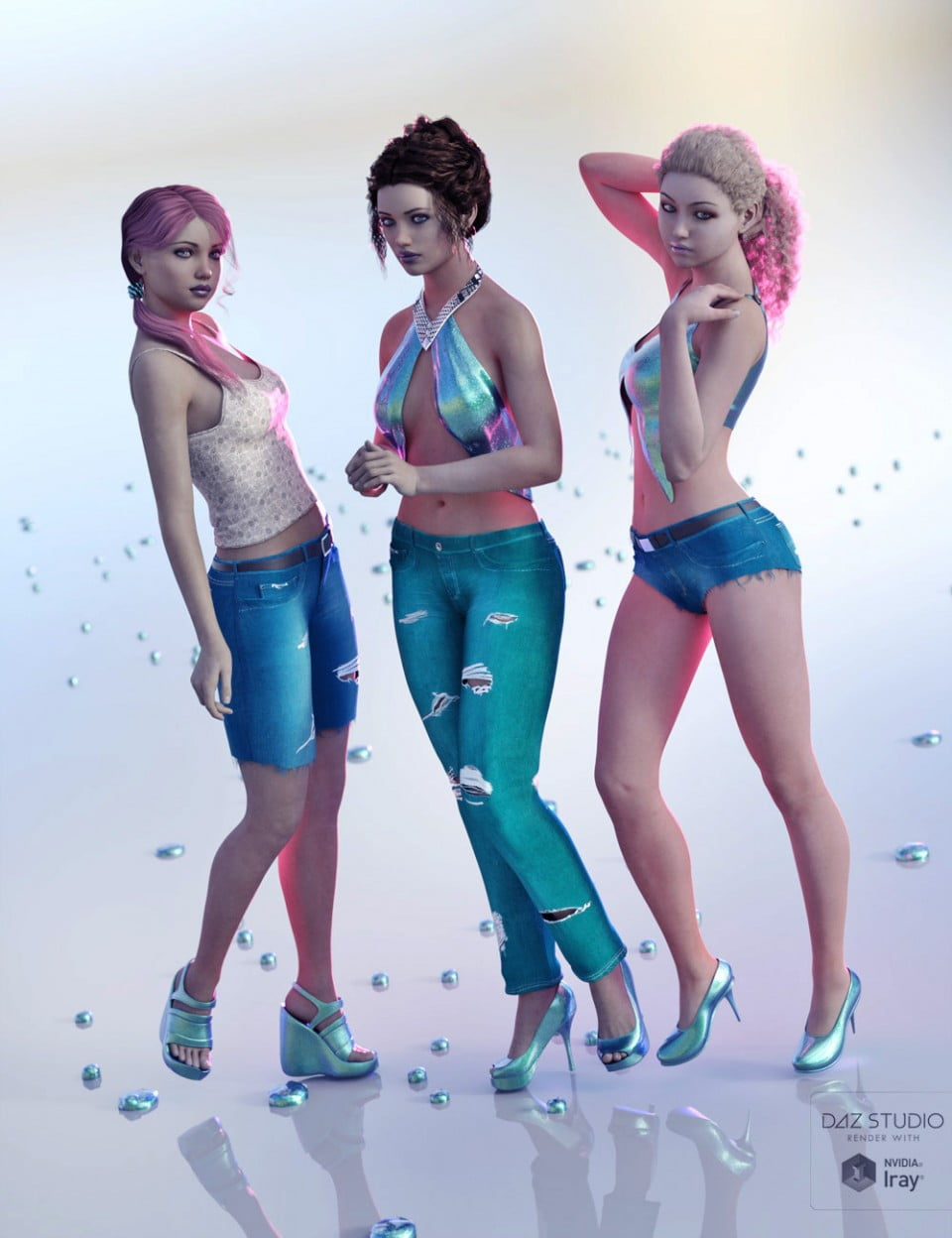 Just Real JeanZ for JeanZ for Genesis 3 Female(s) & Male(s)
