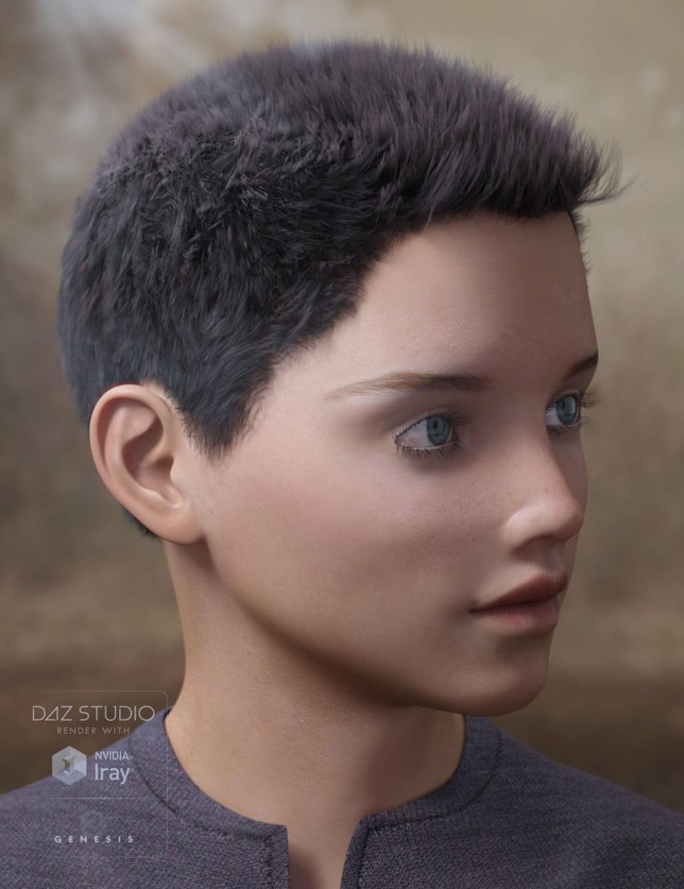 Tyler Hair for Genesis 2 & 3 Male(s)