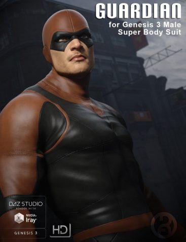 Guardian for Genesis 3 Male Super Bodysuit