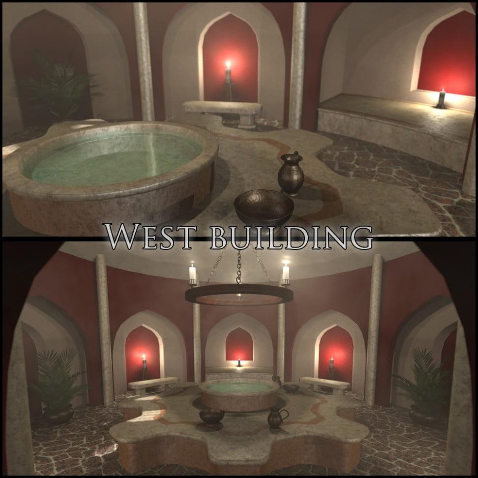 Bath house scene