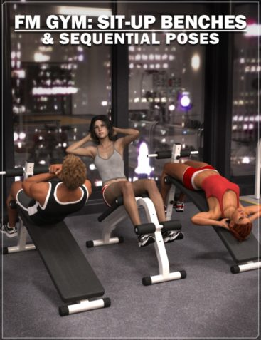 FM Gym: Sit-Up Benches & Poses