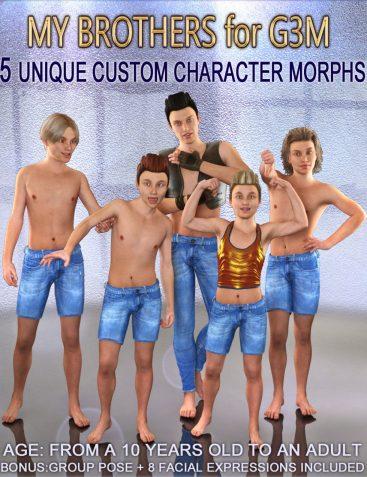 MY BROTHERS for G3M - Full Custom Body Morphs