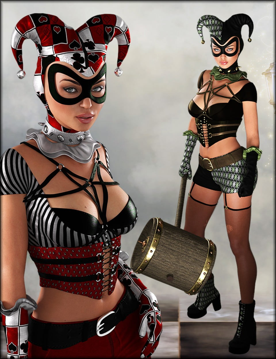 Lady Jester Outfit Textures