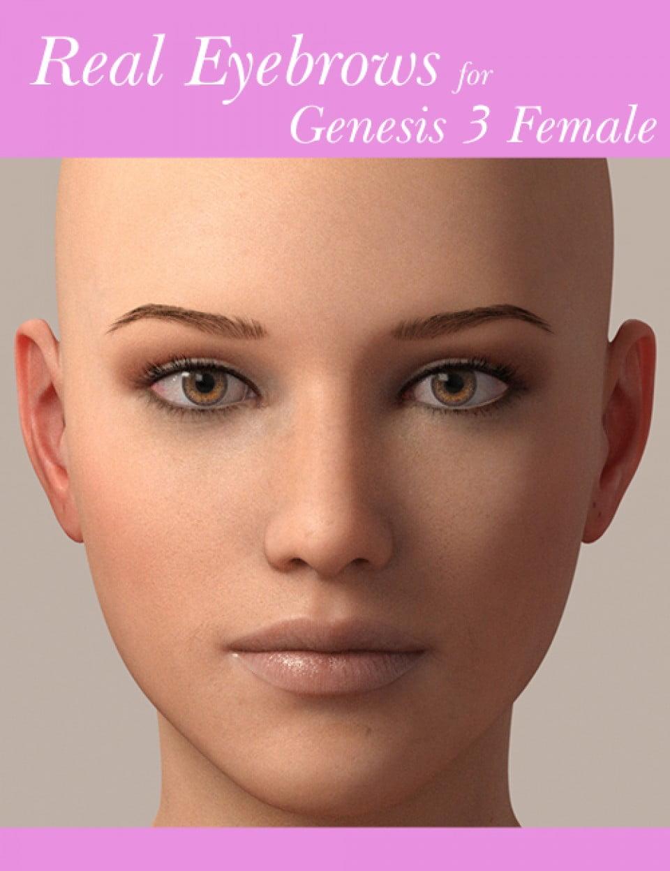 Real Eyebrows for Genesis 3 Female