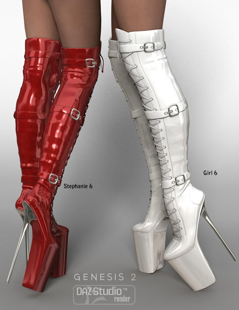 Nixtreme Boots 4 for Genesis 2 Female(s) - clothing, daz-poser-carrara