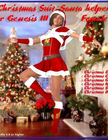 Christmas Suit : Santa Helper for DAZ Genesis 3 Female(s)