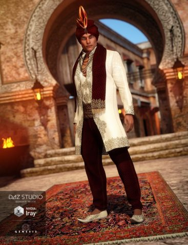 Arabian Prince Outfit for Genesis 3 Male(s)