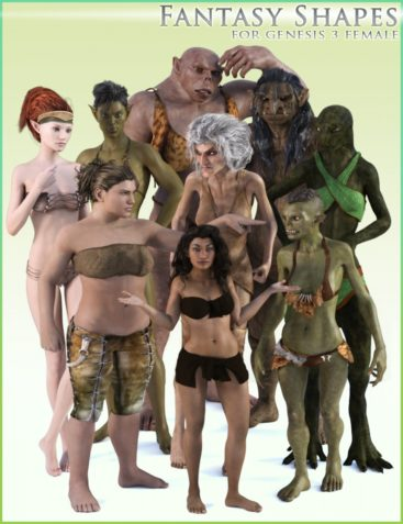 HFS Fantasy Shapes for Genesis 3 Female(s)