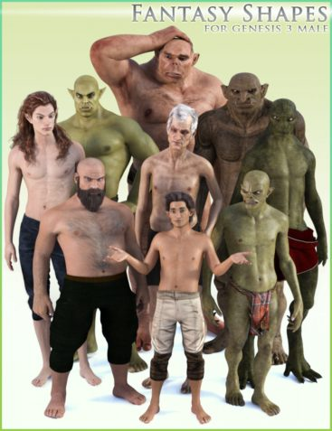 HFS Fantasy Shapes for Genesis 3 Male(s)