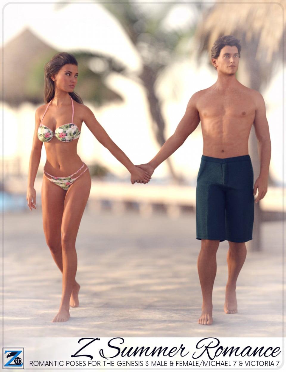 Z Summer Romance – Poses for Genesis 3 Male & FemaleMichael 7 & Victoria 7