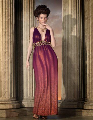 Drusilla Dress for Genesis 3 Female