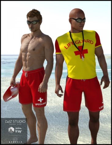 Lifeguard Uniform for Genesis 3 Male(s)