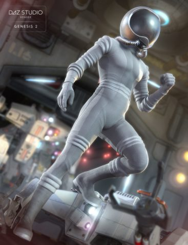 Retro Space Suit for Genesis 2 Male(s)