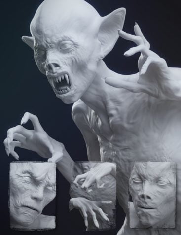Undead Creature Creator HD Morph Pack for Genesis 3 Male