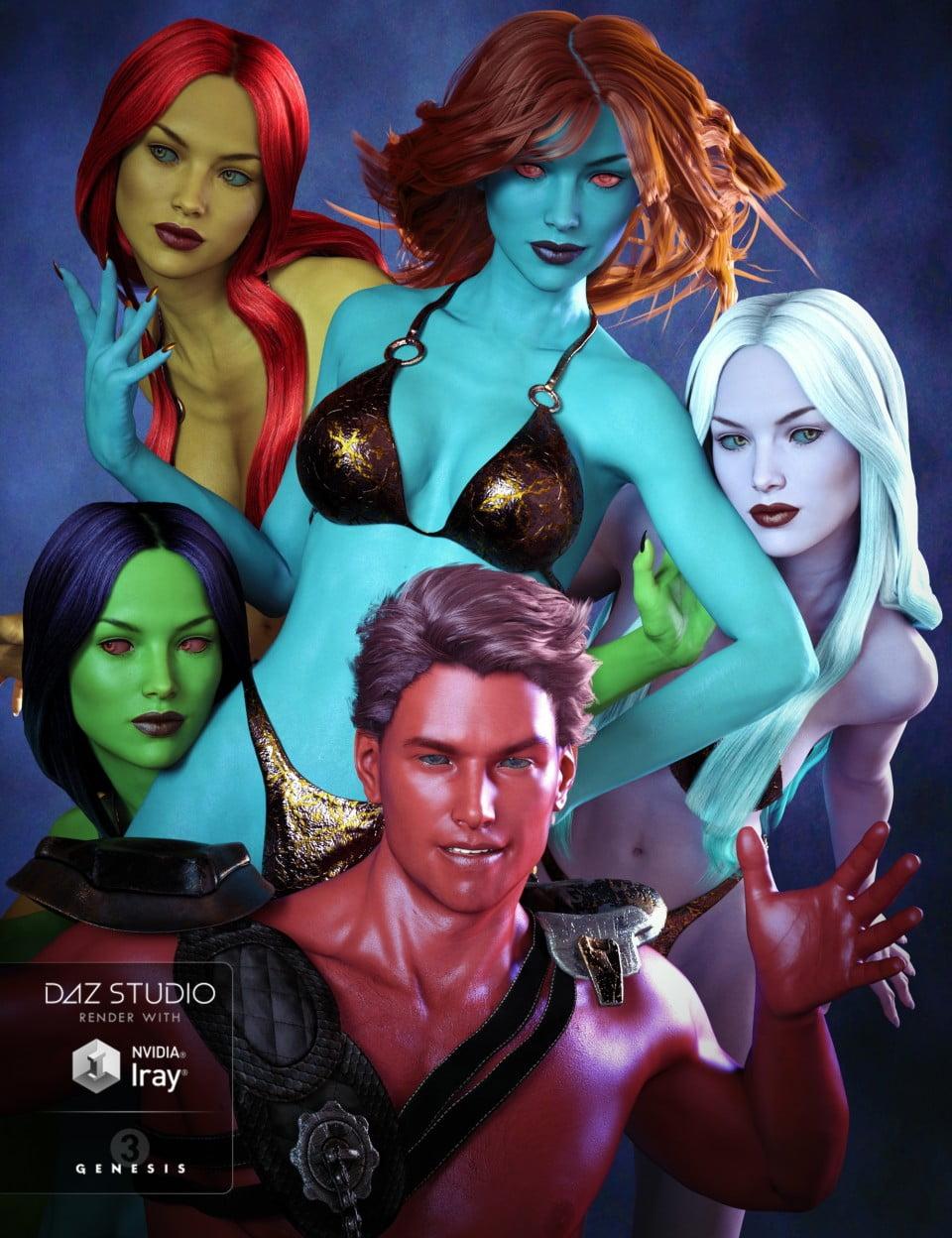 Fantasy Skins for Genesis 3