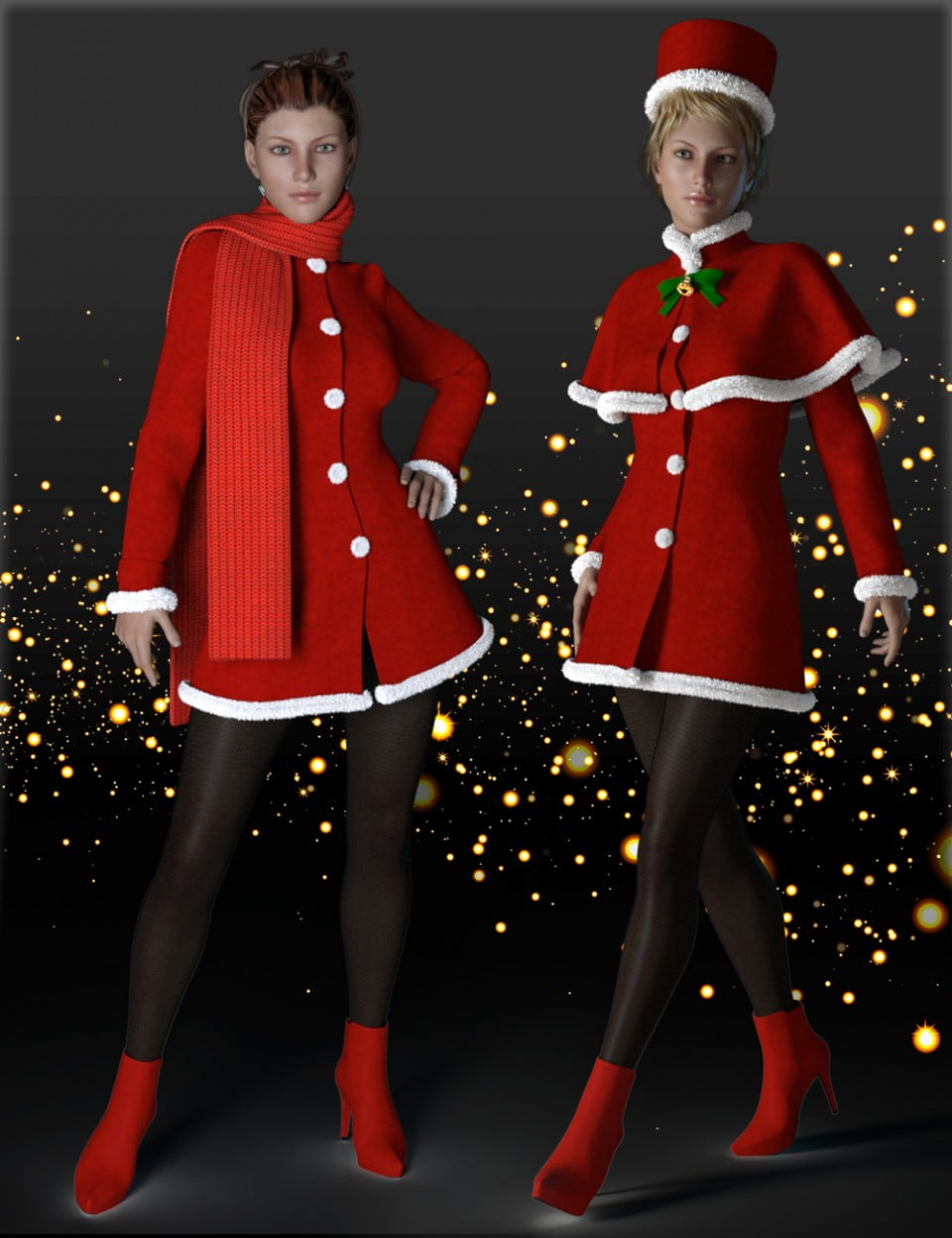 H&C Christmas Costumes for Genesis 3 Female(s)