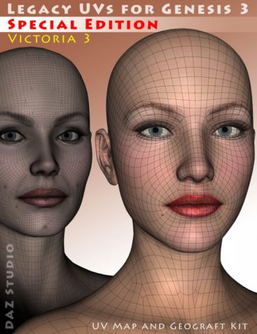 Legacy UVs for Genesis 3: Special Edition - Victoria 3