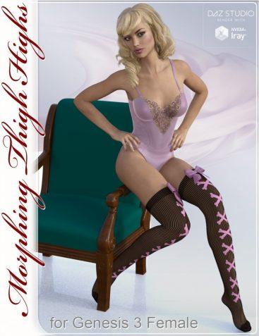 Thigh Highs Stockings & Socks for Genesis 3 Female(s)