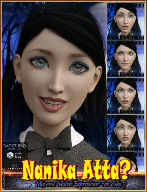 Nanika Atta Mix and Match Expressions for Aiko 7 and Genesis 3 Female(s)