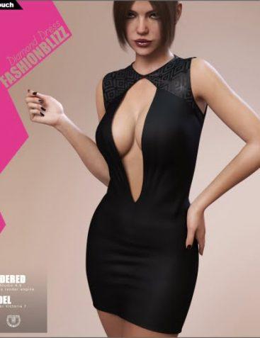 Fashion Blizz Diamond Dress for Genesis 3 Female(s)