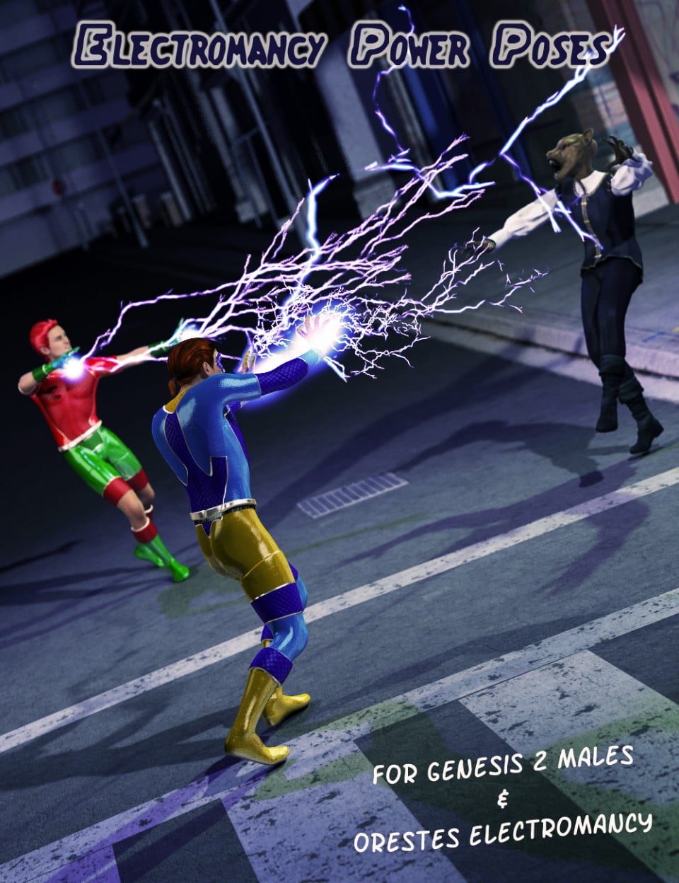 Electromancy Power Poses for Genesis 2 Male(s)
